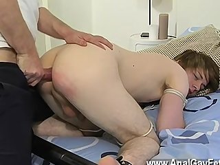 Gay fuck We begin out with the boy strapped and with his taut lil' slot