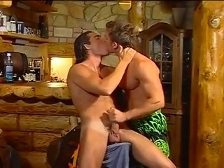 Lewd muscled latin hunks sizzling hot cock riding encounter