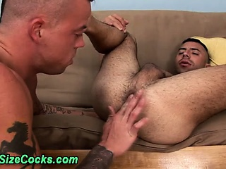 Big dicked tattoo hunks rimming ass