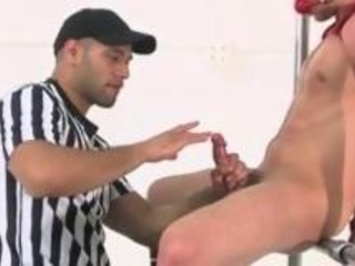 Referee Leo Forte Wanking And Fingering Bound Jock Tristan Phoenix