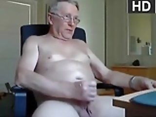Older Cumshot Masturbating