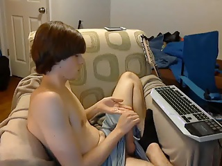 Str8 boy stroke & cum