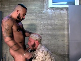 blowjob, bodybuilder, homosexual, military, muscle