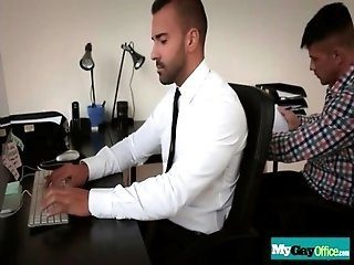Latin twink barebacked on office desk 01