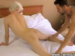 Blond twink is an expert cock rider