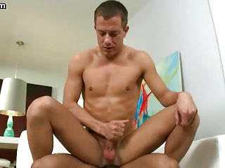 Gay riding a massive black cock