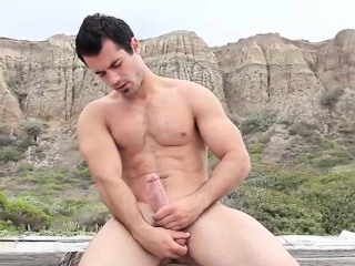 Outdoor Big Cock Masturbating
