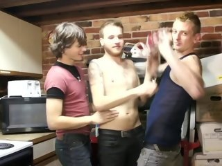 Collection of 3 gays sucking and stroking - Factory Video