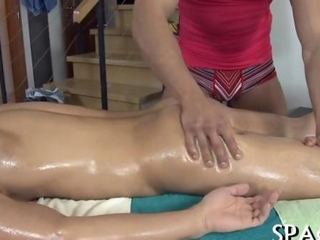 Oiled up dude needs a nice massage