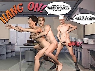 PLEASING GAY CUSTOMER 3D Cartoon Comic Anime Story