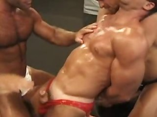 Video from: xhamster | WRESTLING - OILED TRIO