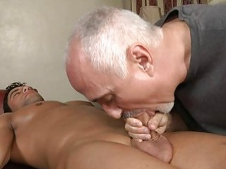Video from: sunporno | mature homosexual hunk sucks younger hard pecker on massage table
