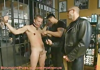 youthful chap is bound for the first time at mr. s leather