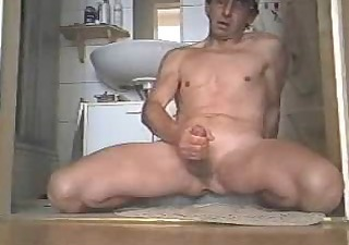 Toilet Cumshot Masturbating