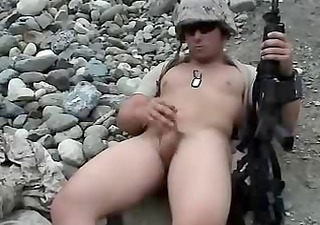 Amateur Army Masturbating
