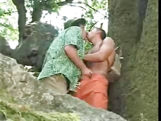 Outdoor Kissing Handjob