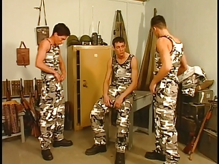 Gay army men fucking in the group