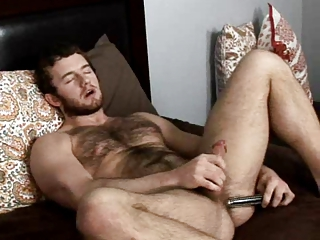 Hairy Masturbating Dildo