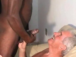Older Cumshot Interracial