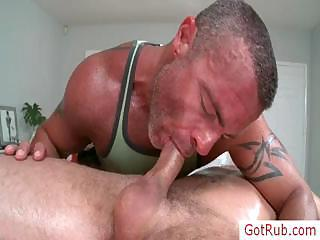 Stud getting rimmed during massage by...