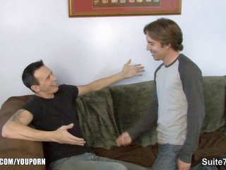 Tattooed married guy catches buttlocks fucked by a gay