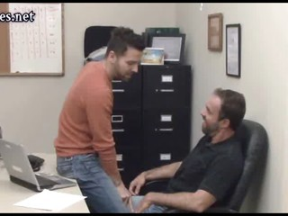 queer guys coworkers having anal sex