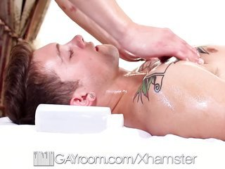 HD - GayRoom Oiled up prostate massage turns admit appealing drink and fuck