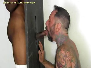 G139 Kevin At the Gloryhole - Free Gay Porn on the edge of Straightfraternity - movie scene 134682