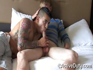 Dan Sucks Brock - Free Gay Porn not quite Activeduty - eppy 110429