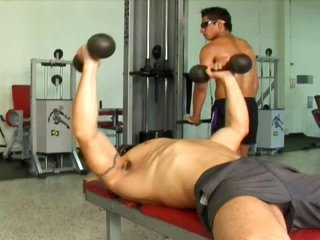 Sexy gay boy sucks johnson as well comes by his anal dance fucked by his trainer