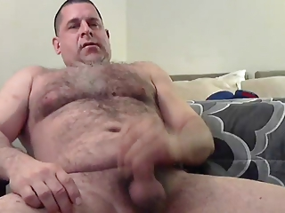 Hairy Dude Jacks His Meat