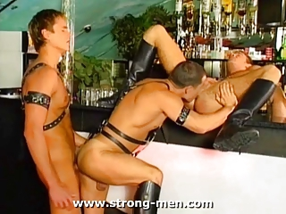 Threesome Leather Studs
