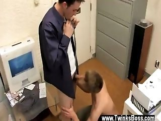 Gay movie of They stir to the couch in their secretary&#039_s office to