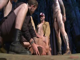 Christian Brock Avery also Eli Hunter - Free Gay Porn on the brink of Boundinpublic - movie scene 128450