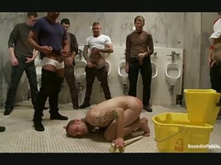 Toilet Fetish Gangbang