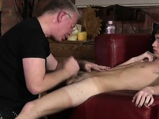 Old And Young Handjob Daddy