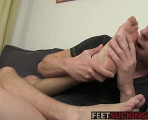 Guys love touching each other dicks after feet licking