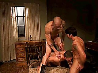Muscled  Threesome