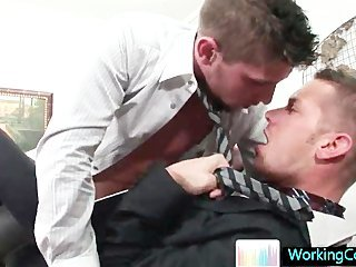 Amazing studs sucking and fucking at the office part6