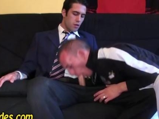 Video from: hardsextube | French dude sucks his boss off