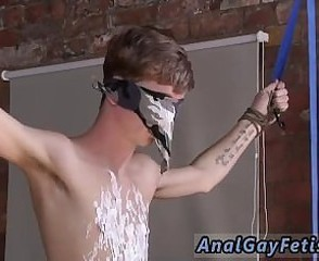 Shaved head gay porn Kieron Knight likes to fellate the red-hot jizz flow