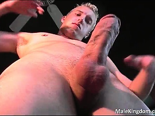 blonde boy, homosexual, horny, huge dick, masturbation