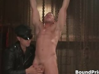 Strung and hung and whipped gay BDSM part1