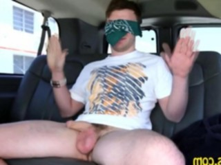 Gagging on a dick in the backseat