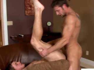 Muscular straight jocks try a cock ride