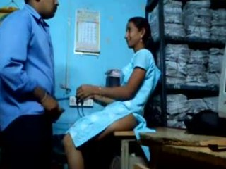 Video from: indiansex-xxx | Sneaky Indian couple enjoying hardcore fucking while back at the office