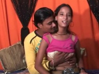 Dude eagerly licking an Indian teen's tits before fucking her silly