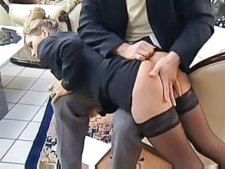 Spanking Stockings Secretary