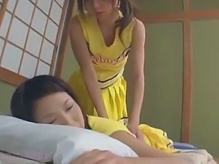 Asian Lesbian Cheerleader Rubbed