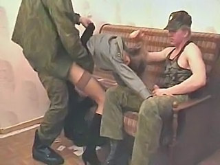 Forced Army Threesome